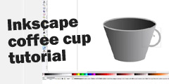 Draw a coffee cup in Inkscape video tutorial