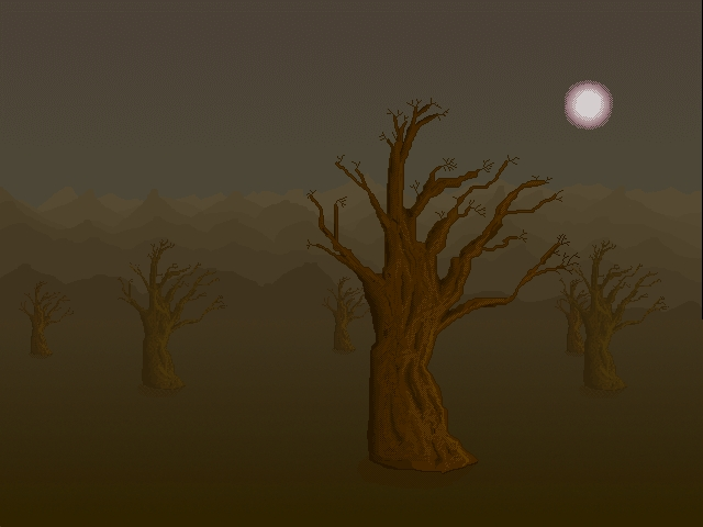 Misty Trees Background
